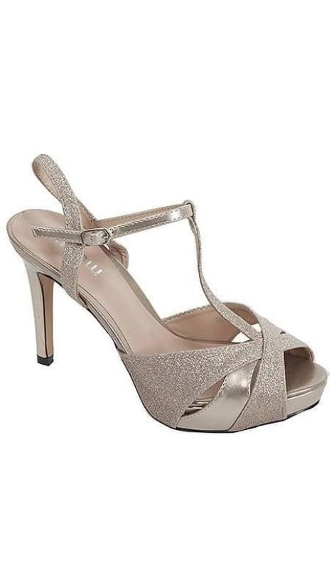 Gouden gala sandaaltje 3394 - GLZK-schoenen