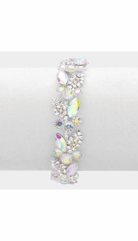 Armbanden zilver met strass  3413 - GLZK sieraden