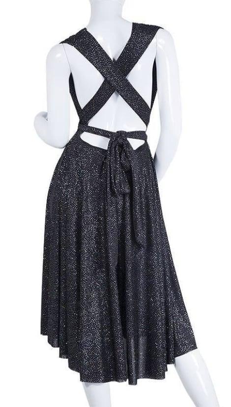 Zwarte glitter halter cocktailjurk - City Goddess galajurken en cocktailjurken