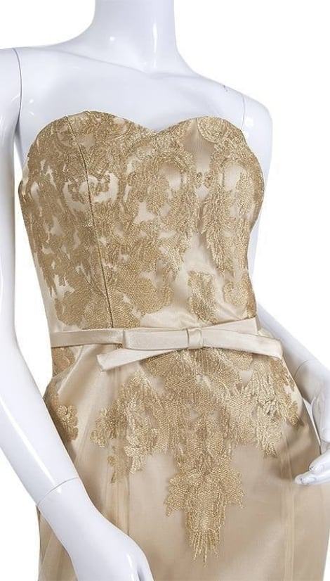 Goudkleurige jurk 3575 - Juju & Christine