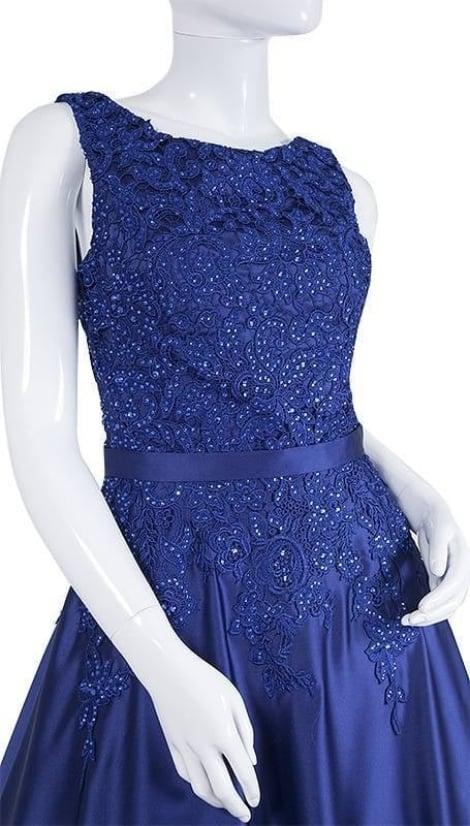 Blauwe rodeloper galajurk 3594 - Magic Nights