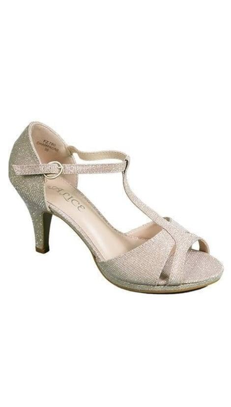 Gouden peep-toe pumps - GLZK-schoenen