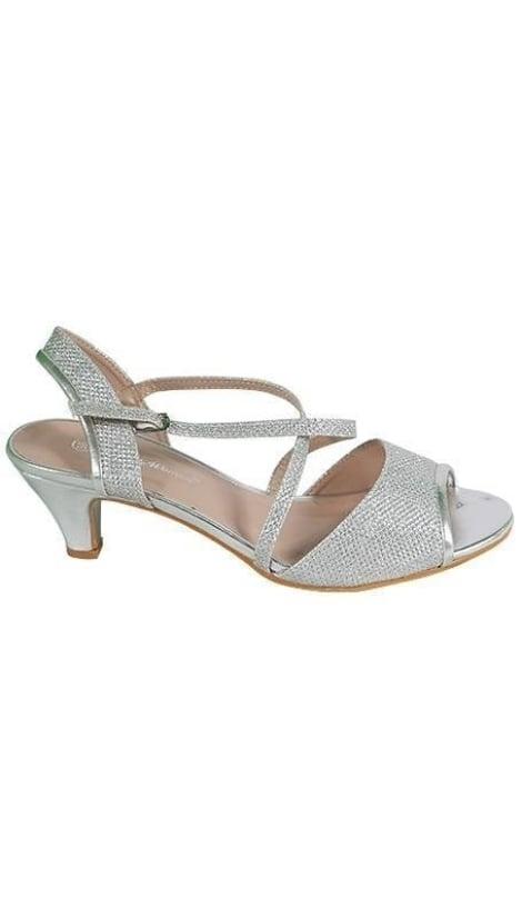 Zilveren peep-toe pumps 3645 - GLZK-schoenen