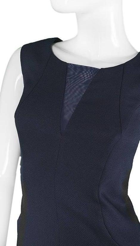 Navy blauw kort avondjurkje 3665 - Sonia Pena moeder van de bruid jurken