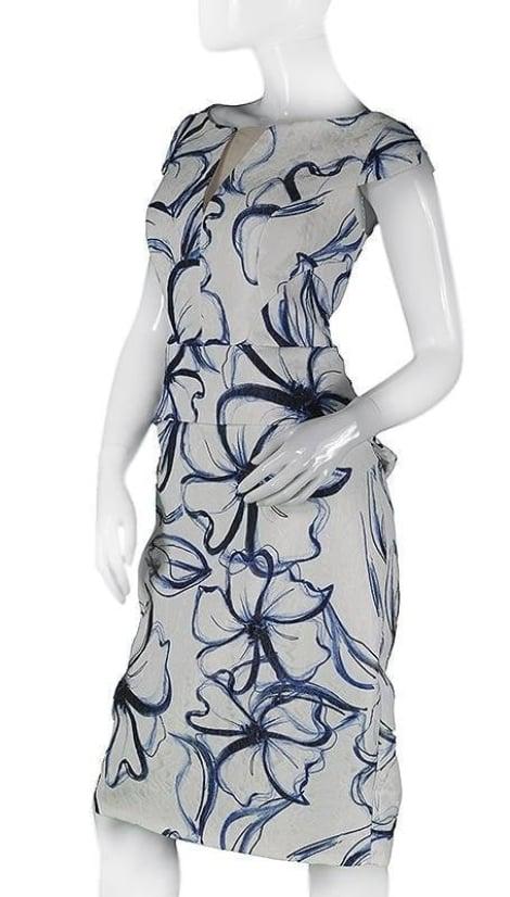 Cocktailjurk met bloempatroon 3670 - Sonia Pena moeder van de bruid jurken