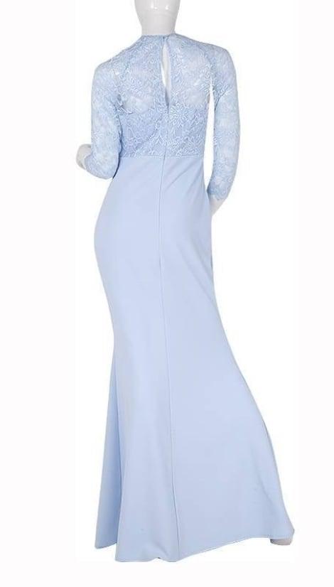 Lichtblauwe galajurk met mouwen  3774 - City Goddess
