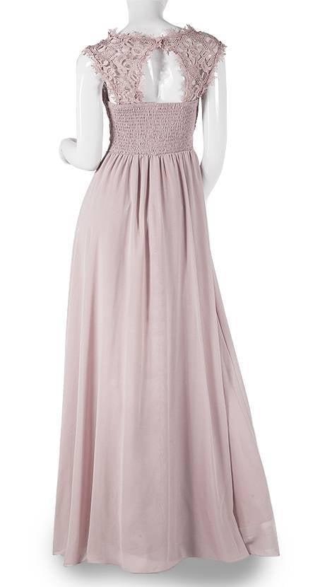 Lange jurk in oud-roze  3776 - Downtown Girl