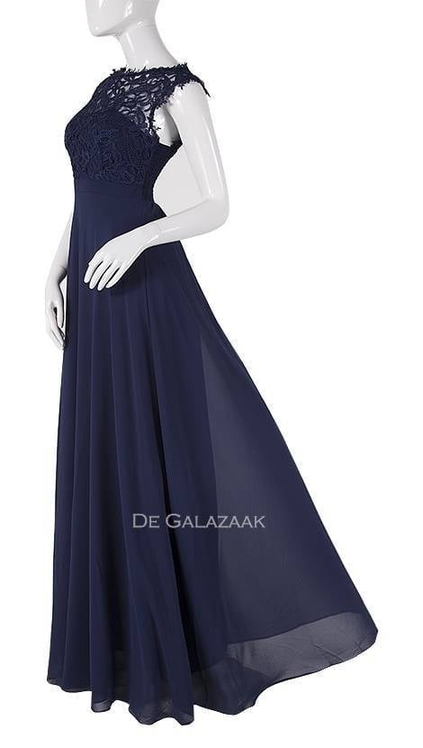 Galajurk in navy-blauw met kant  3777 - Downtown Girl