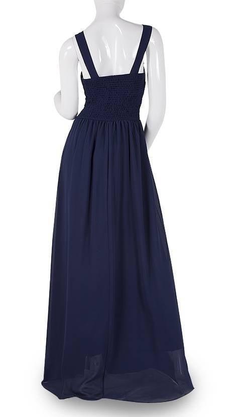 Navy blauwe avondjurk  3783 - Downtown Girl