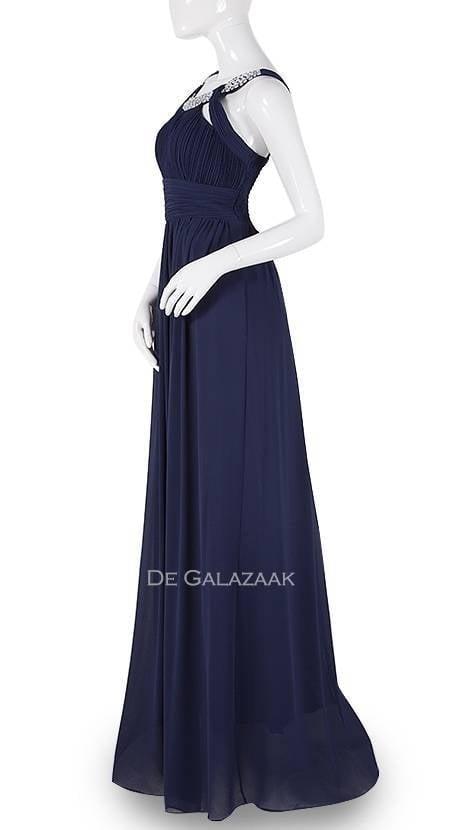 Navy blauwe avondjurk 3797 - Downtown Girl