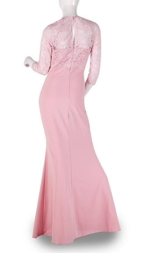 Roze galajurk met mouwen  3814 - City Goddess galajurken en cocktailjurken