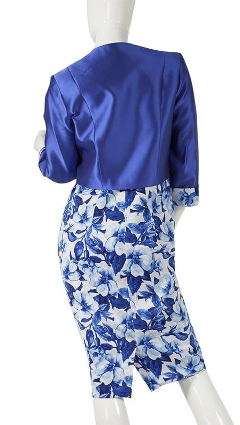 Bruidsmode pakje in blauw 4102