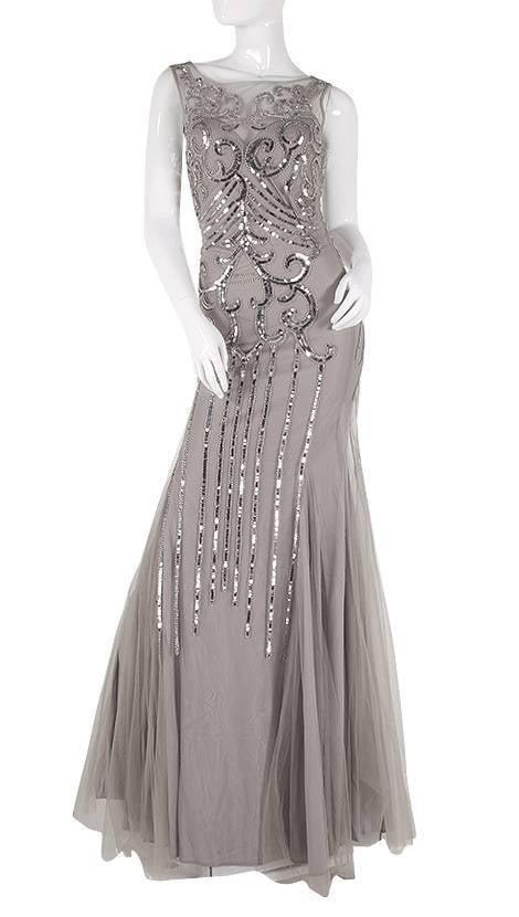 Aangesloten tule lange jurk  3811 - Exclusive
