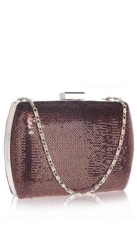 Bordeaux glitter clutch  3605 - GLZK tasjes en clutches