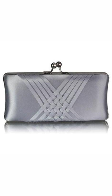 Clutch satijn zilver 3144 - GLZK tasjes en clutches