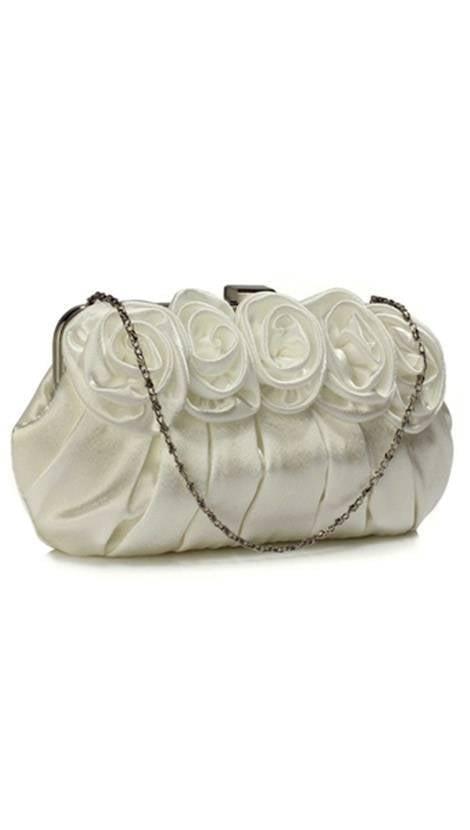 Clutch ivoor met rozen 3826 - GLZK tasjes en clutches