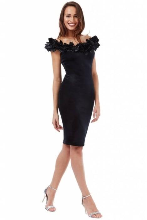 Cocktail zwart fluweel - City Goddess galajurken en cocktailjurken