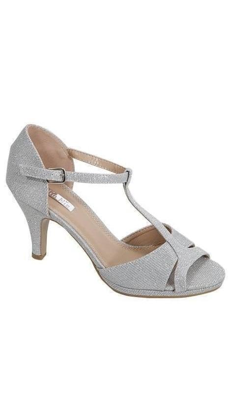 Zilveren peep toe Pumps - GLZK-schoenen