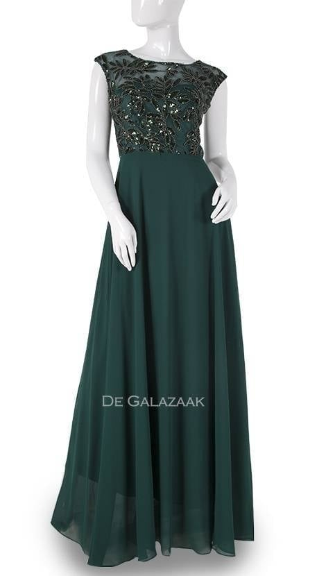 Groene galajurk met glitter  3780 - Downtown Girl
