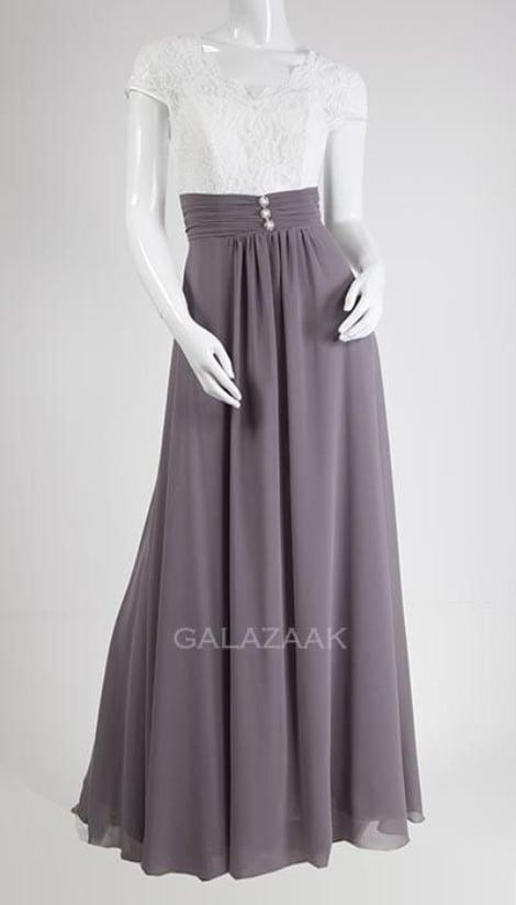 Galajurk grijs-ecru met kanten top  3116 - Lasense
