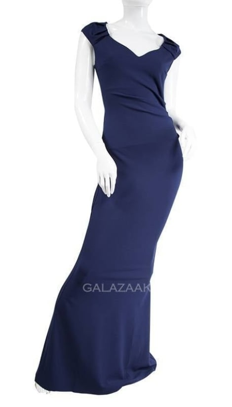 Galajurk navy blauw  3258 - City Goddess galajurken en cocktailjurken