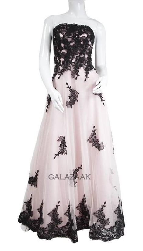 Galajurk roze met zwarte details  3244 - Juju & Christine