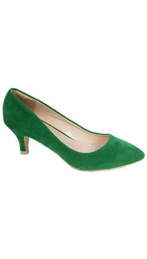 Groene suede  pumps 2353 - GLZK-schoenen