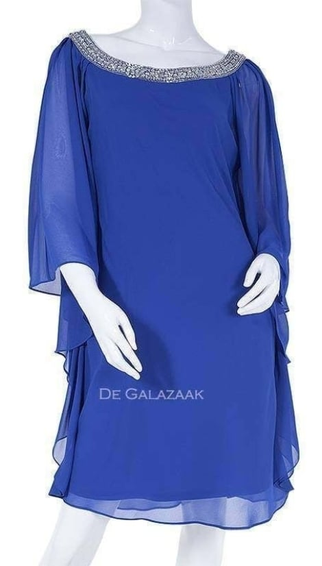 Cocktailjurk royal-blauw 3457 - Mascara galajurken