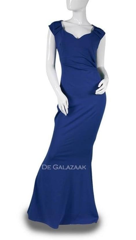 Galajurk bodycon blauw  3638 - City Goddess galajurken en cocktailjurken