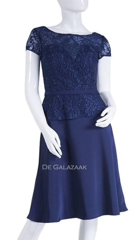 Cocktailjurk  blauw  3595 - Magic Nights
