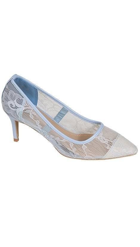 Galaschoentje lichtblauw met kant  3790 - GLZK-schoenen