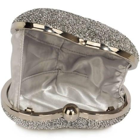Clutch hartvormig zilver 2808 - GLZK tasjes en clutches