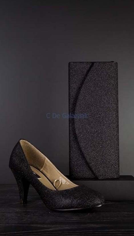 Zwarte pumps  met ronde neus 1226 - GLZK-schoenen