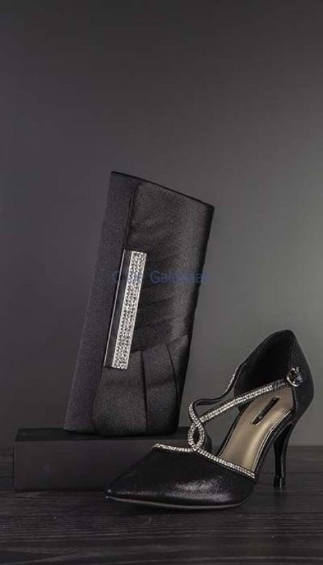Zwarte pumps met strass 2217 - GLZK-schoenen
