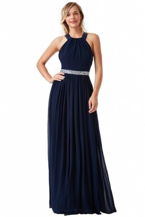 Navy blauwe avondjurk  3749 - City Goddess