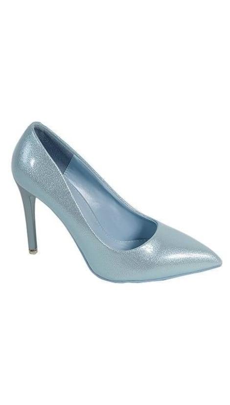 Pumps glitter blauw 2928 - GLZK-schoenen