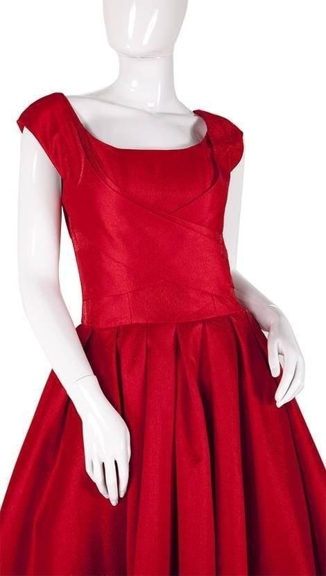 Rode galajurk met wijde rok  3812 - Exclusive