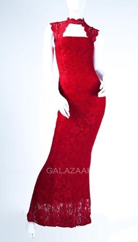 Galajurk rood van kant - City Goddess