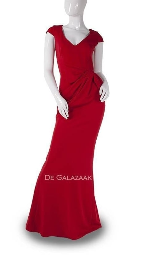 Rode lange jurk 3737 - City Goddess galajurken en cocktailjurken