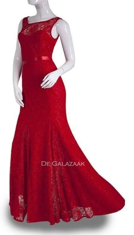 Galajurk rood van kant  3608 - City Goddess galajurken en cocktailjurken