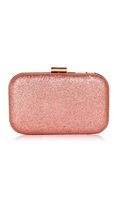 Clutch roze glitter 3838 - GLZK tasjes en clutches