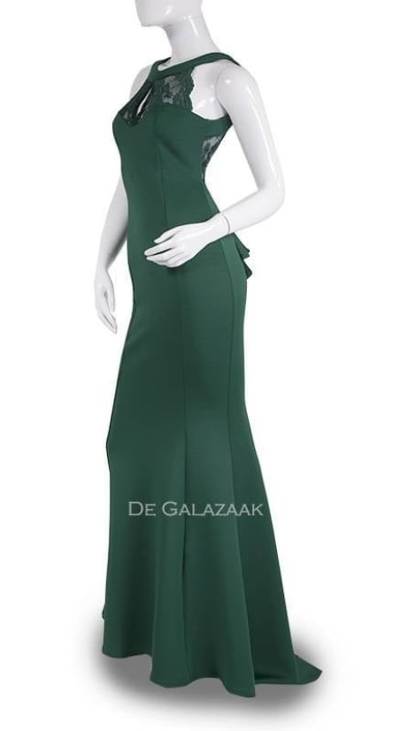 Avondjurk in groen  3609 - City Goddess galajurken en cocktailjurken