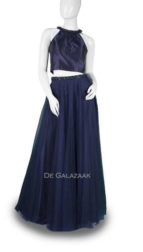 Tweedelige gala-set blauw 3713 - Magic Nights