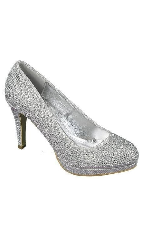 Zilveren pumps plateau 3723 - GLZK-schoenen
