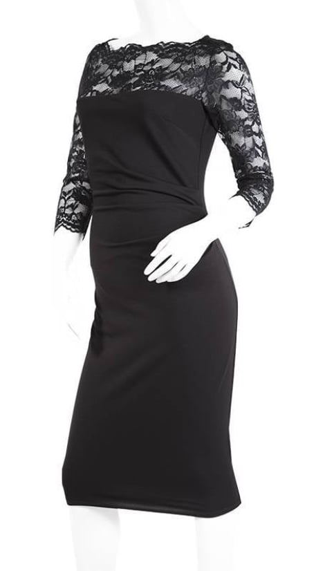 Cocktailjurk zwart LBD  3344 - City Goddess galajurken en cocktailjurken