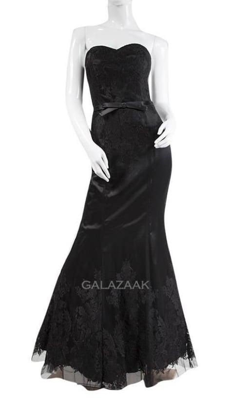 Galajurk zwart met kant  3230 - Juju & Christine galajurken en cocktailjurken
