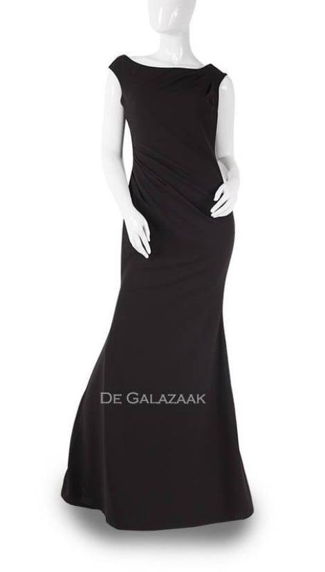 Zwarte basic avondjurk  3735 - City Goddess galajurken en cocktailjurken