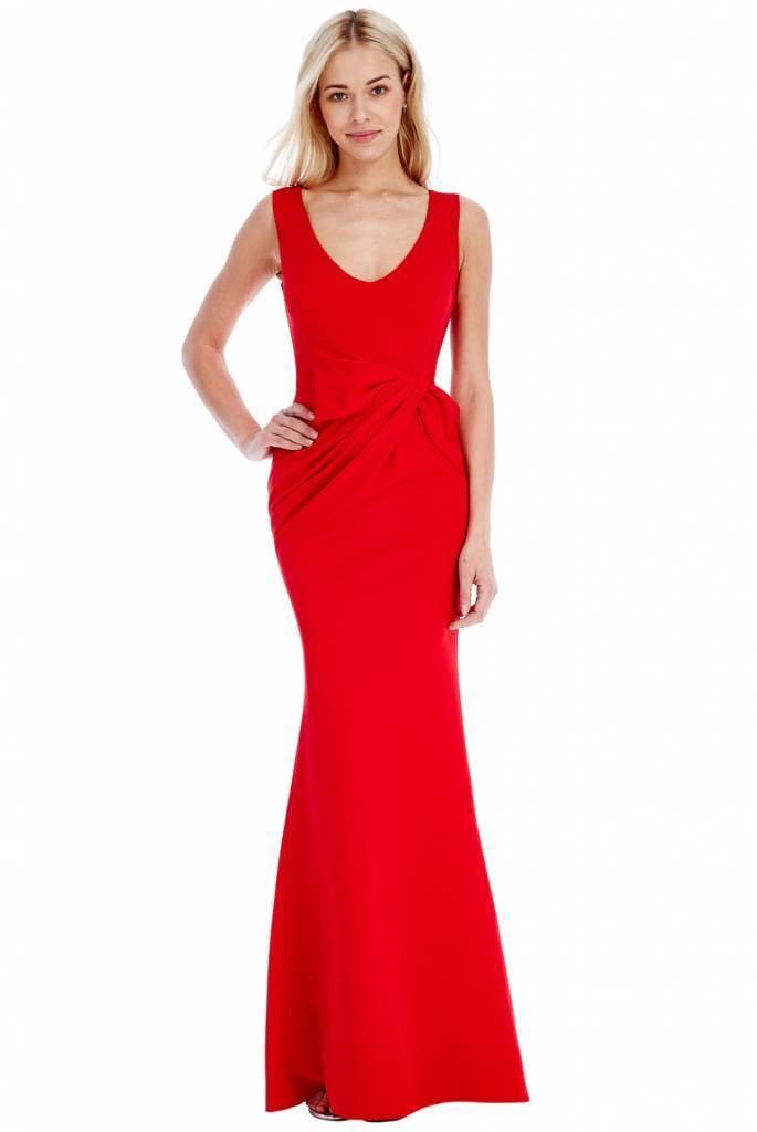 hete verkoop online lekker goedkoop bespaar tot 80% Rode lange feest jurk | De Galazaak