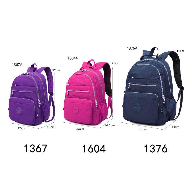 School Backpack for Teenage Girl Women Backpacks Nylon Waterproof Casual Laptop Bagpack Female
