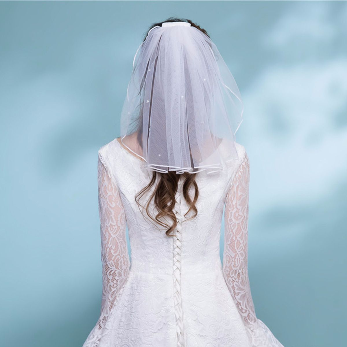 Short Tulle Bridal Veils